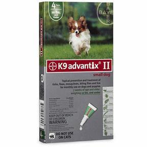 Bayer K9 Advantix Ii Small Dog 4 Pack Augusta Cooperative Farm