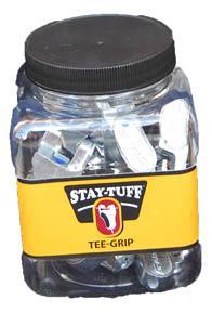 Stay Tuff Gripple Tee Clip 25jar Augusta Cooperative Farm